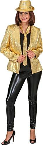 Orlob Damen Kostüm Pailletten Jacke Gold Karneval Fasching Gr.46