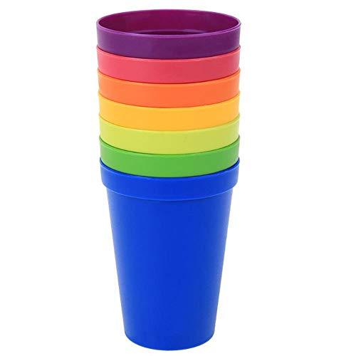 JKKC Bicchieri in plastica Arcobaleno Colore Portatile Picnic Turismo Bicchierini per caffè Tazza di Acqua Utensili da Cucina per la casa
