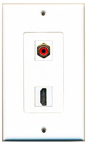 riteav, 1x RCA mit subwoofer-audio mit HDMI-Anschluss, Wand Deko-Teller -