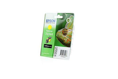 Original Tinte passend für Epson Stylus Photo 2200 Epson T03443444010 , C 13 T 03444010 , C13T03444010 , T 034440 - Premium Drucker-Patrone - Gelb - 17 - Stylus 2200 Epson Drucker