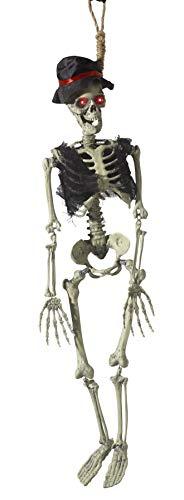 hängendes Bräutigam Deko Skelett, Batteriebetrieben, Mit leuchtendenden Augen, Geräuschen und Bewegungen, 90cm Länge, Natur, 46905 ()