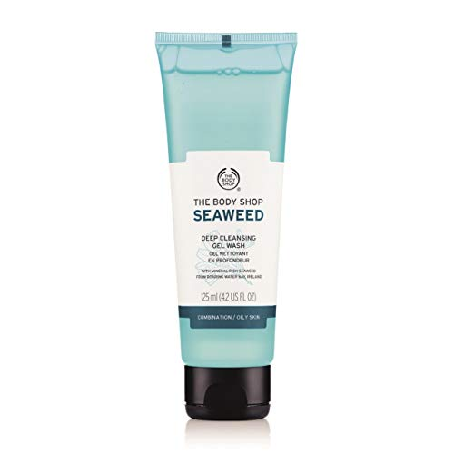 Der Body Shop Meeresalgen tief reinigende Gel waschen 125ml für Kombination / fettige Haut / The Body Shop Seaweed Deep Cleansing Gel Wash 125ml FOR COMBINATION / OILY SKIN