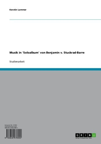 Musik in 'Soloalbum' von Benjamin v. Stuckrad-Barre