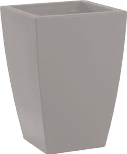 Blumentopf / Pflanztopf Logos, B30 x H43 x T30 cm, aschgrau, matt, 27 l Inhalt, für Innen und Außen, aus hochwertigem Polyethylen