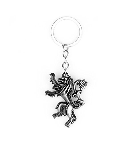 Portachiavi game of thrones: house lannister - leone rampante - trono di spade high quality keychain