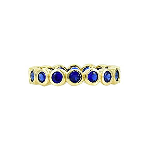Joy's Gold Plated Eternity Band- Synthetic Sapphire - Final Sale
