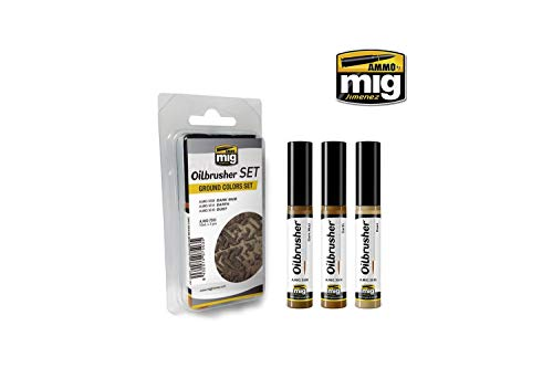 AMMO MIG-7503 Ground Colors Oilbrushers Set, Multicolour -