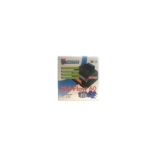 Superfish 671047/4060 Kit de Ventilation Koi Flow 60 avec Tuyau et diffuseur