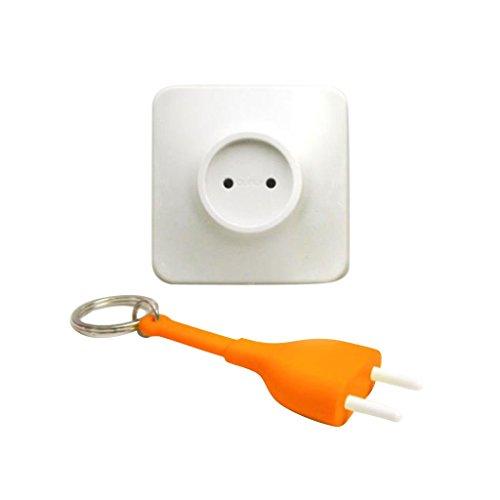 perfk Anti-Verloren Schlüsselfinder Lost Key Finder Steckdose Stecker Ziehen Schlüsselring Schlüsselanhänger Schlüsselhalter -
