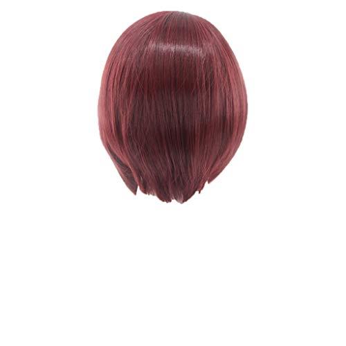 Schwarze COSPLAY kurze Haare BOBO Perücke 35cm, Bluestercool Perücke mit Babyhaar Menschenhaar Volle Ende Kurze Bob ()