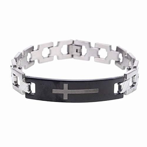 Armband - Modern Style Fashion Herren Edelstahl Schmuck Classic Christ Cross Square Mesh Armband - Modern Style Dance Kostüm