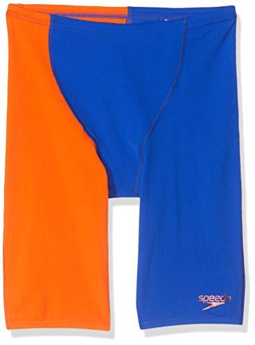 Speedo Fastskin Endurance+ - Bañador de Cintura Alta para niños, Color Naranja y Azul, Mujer, Ultrasonic/Salso...