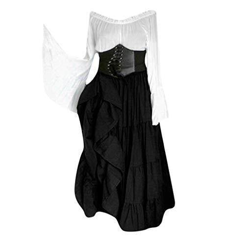 Mittelalterliches Kostüm von Magd Frau Vintage Renaissance mittelalterlichen Kostüm Kleid Gothic Kleid Phantasie Cosplay Rock (Indische Tumblr Kostüm)