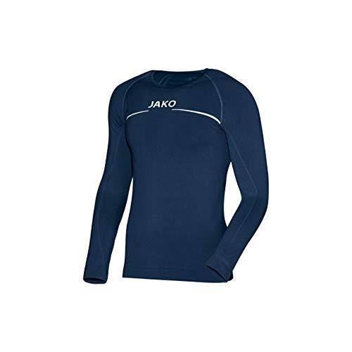 JAKO Longsleeve Comfort - Herren Langarmshirt,blau (marine), M -