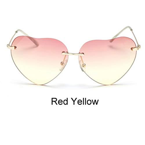 ZHOUYF Sonnenbrille Fahrerbrille Farbverlauf Sonnenbrille Bonbonfarbenen Herzförmigen Sonnenbrille Für Frauen Vintage Uv400 Sonnenbrille Für Weibliche Oculos, G