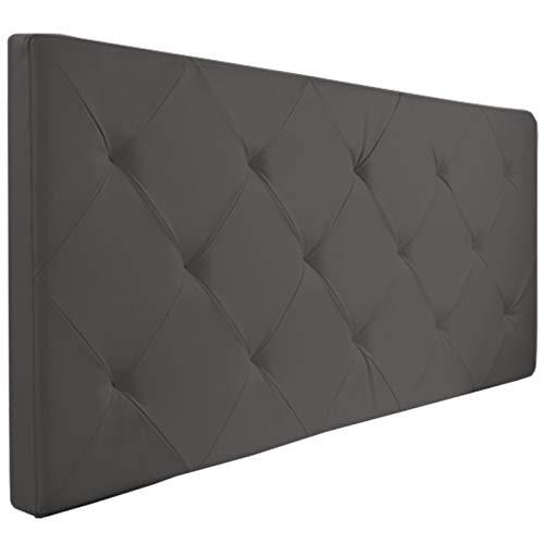 Probache - Tête de lit capitonnée PVC Gris 160x58 cm