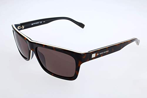 BOSS Orange Unisex BO 0094/S 70 L9S Sonnenbrille, Weiß (Dark Havana White Grey/Brown), 55