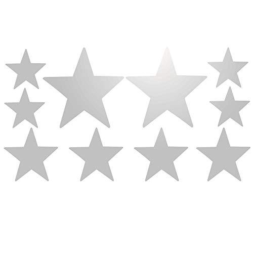 Lote de 10 adhesivos de estrella