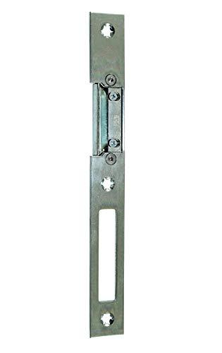 GU BKS Universal Secury Haustür Flach Schließblech mit AT-Stück Rechts, 24 x 215 x 3 mm -