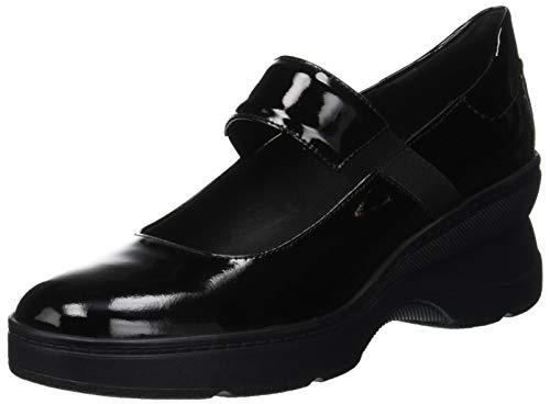 Geox Damen D ASCYTHIA A Mary Jane Halbschuhe Schwarz (Black C9999) 40 EU Patent Mary Jane Schuhe