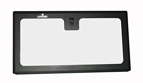 Leviton 47605-2PB SMC 28-Inch Series, Structured Media Premium Hinged Cover With Trim Ring, Smoke Window, Black