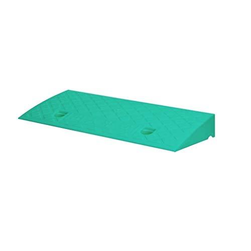 7 cm Roller Rampen, Licht Kunststoff Dreieck Pad Garten Terrasse Stufenrampen Mini-Markt Supermarkt Eingang Schwelle Rampen (Color : Green, Size : 49.5 * 26.5 * 7CM) -
