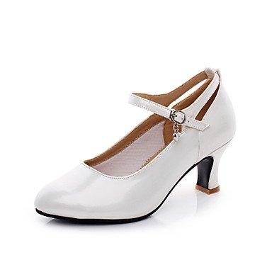 Silence @ Chaussures de danse pour femme Valse Talon Blanc/argent ivoire