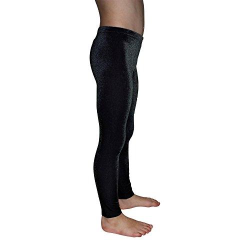 Leggings Mädchen Turnhose Nicki Samt ML110518 Farbe schwarz, Größe 164