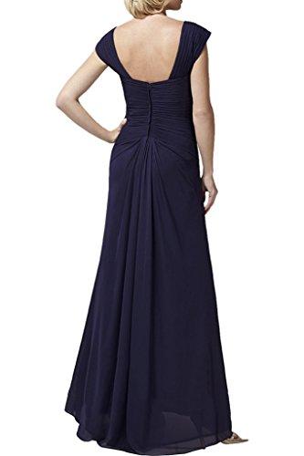 Royaldress Navy Blau Elegant Chiffon Abendkleider Ballkleider Partykleider Brautjungfernkleider Lang A-linie Jaeger Gruen