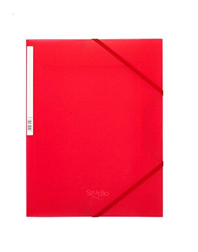Pardo 825502-Gummizugmappe PP Gummibändern Verschluss mit Design Studio Style, Rot
