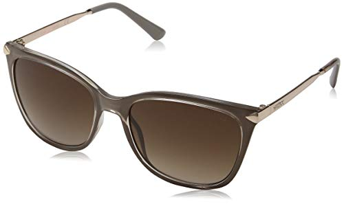 Guess Damen GU 7483 Sonnenbrille, Shiny Beige/Gradient Brown, 56