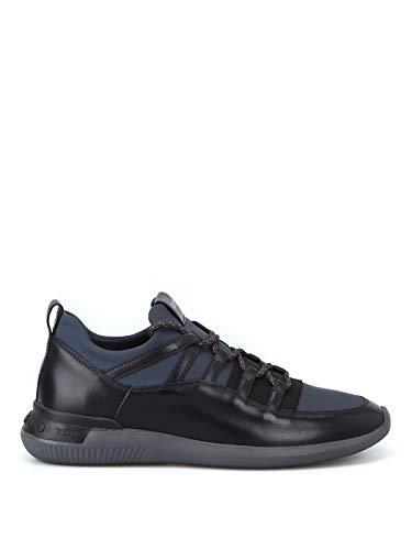 Tod's Sneaker No-Code in Pelle e Tessuto Effetto Scuba XXM91B0AI60JXW444I Grigio Uomo 6