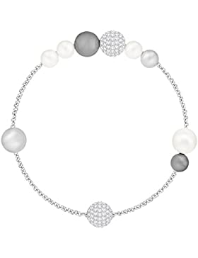 Swarovski Remix Collection Mixed Gray Crystal Pearl, weiss, rhodiniert