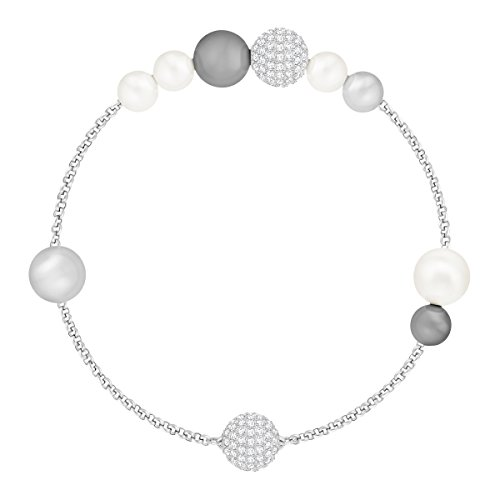 Swarovski Mixed Gray Crystal Pearl Swarovski Remix Collection, placcatura rodio