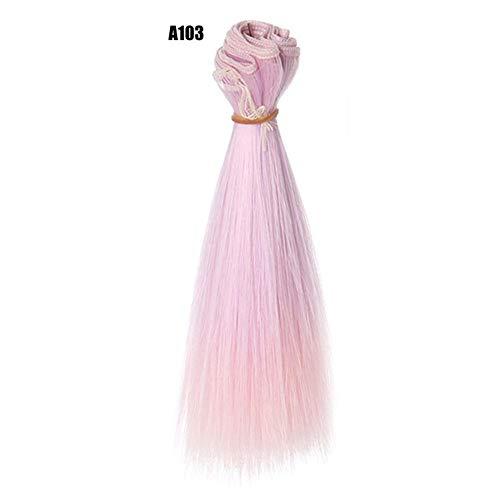prom-note 15CM Puppenhaar Mannequin Haare DIY Haaransatz Für Kurhn Night Lolita Perückenmaterial Für BJD Hochtemperatur-Seidenschuss
