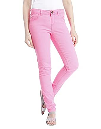 Only Damen Hose Skinny Nynne Pant 15068614 Neon Pink XL / 32