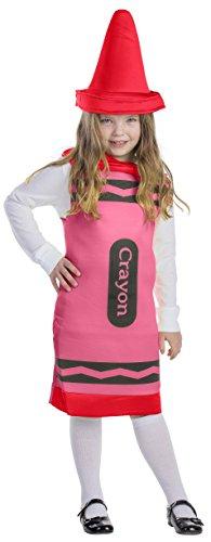 Dress Up America Kinder rot Buntstift Kostüm (Kostüm Buntstifte)