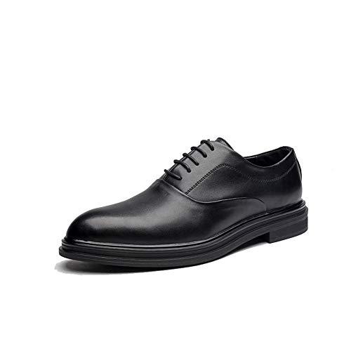 Jingkeke Herren Klassische Formale Business Oxford Mode Britischen Stil Komfortable Party Hochzeit Kleid Schuhe auffällig (Color : Schwarz, Größe : 44 EU) Plain Toe Slip