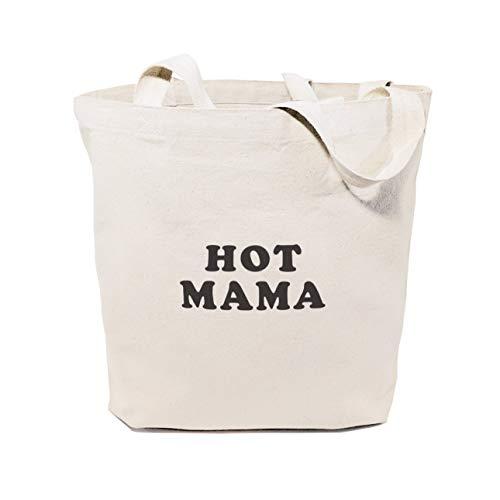 Hot Mama cotone tela ginnastica yoga shopping viaggio riutilizzabile spalla Tote borsetta e regali per lei per San Valentino Everyday bag Gift