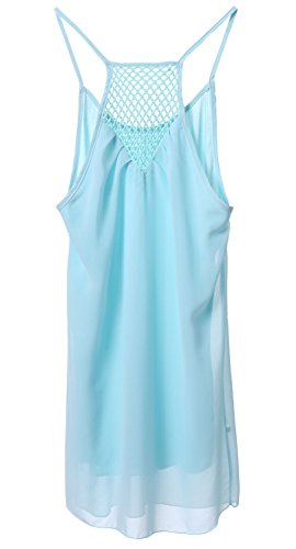 Canotte e top da donna cover up bikini Harness Dress Bluse e camicie Coprire bikini Abito gonna Coprire il vestito Vestito slip beach cover up dress Casuale sciolto Chiffon Canotte e top da donna Olive