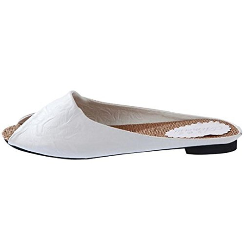 Bescita Damen Sommer Sandalen Schuhe Peep Toe Halbschuhe römischen Sandalen Damen Flip Flops Weiß