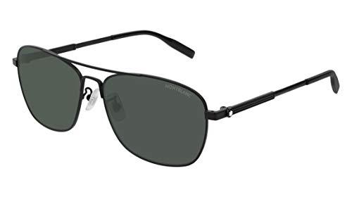 Sonnenbrillen Mont Blanc MB0026S Black/Green Herrenbrillen