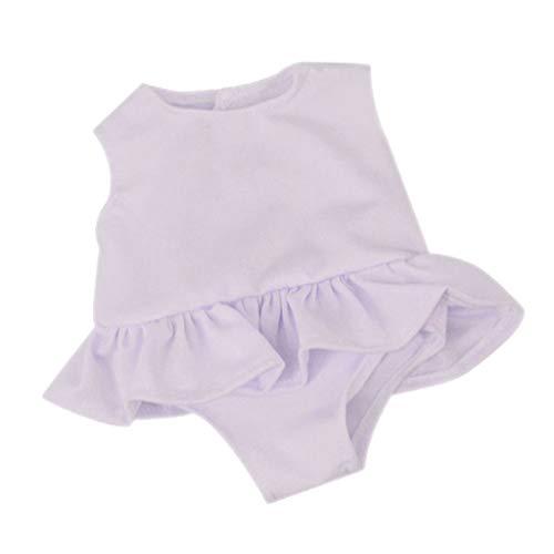 B Blesiya Puppen Einteilige Badeanzug Sommer Schwimmanzug für 18 Zoll weibliche Puppe - Weiß -