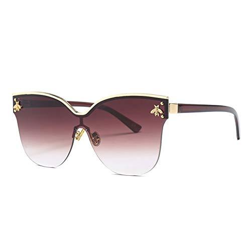 Thirteen Sonnenbrillen Frauen UV Blocking Geeignet Fahren Strand Mode Reisen Metallrahmen,Geeignet Für Dekoration, Sonnenschutz, Einkaufen, Reisen, Fahren. (Color : D)