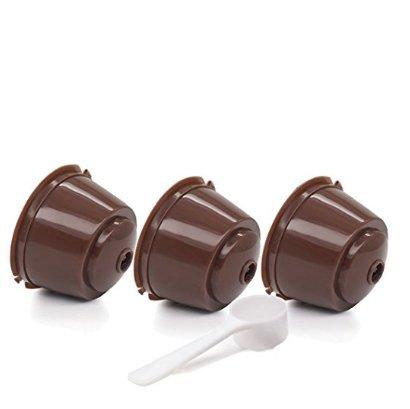 LCsndice LCsndice 3 cápsulas de café cápsulas de café reutilizables filtro + 1 cucharadita de té