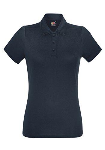 Fruit of the Loom - T-shirt de sport - Femme Bleu - Bleu marine foncé