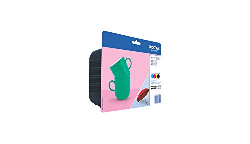 Brother Original XL-Tintenpatronen LC-227 (schwarz, cyan, magenta, gelb) im Value-Pack