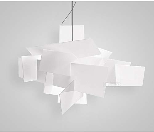 Personnalité créatrice d'art post-moderne nordique Restaurant Bar blanc Big Bang acrylique lustre empilées