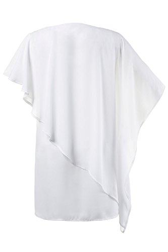 Ulla Popken Femme Grandes tailles Blouse longue 710492 Blanc Cassé
