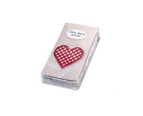 Papiertaschentücher, 10er-Pack, 4-lagig (Herz)